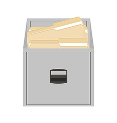 Opened card catalog vector
