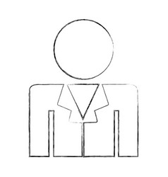 professional doctor avatar silhouette vector image