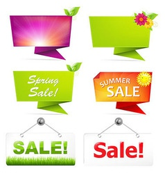 Sale Origami Banners vector image