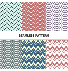 Seamless pattern with zigzag vector image