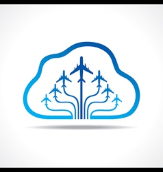 Tour and Tourism icon with cloud vector image