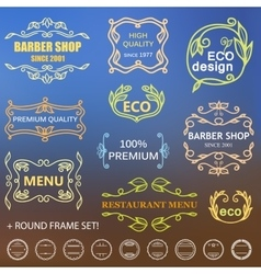 Vintage badges vector