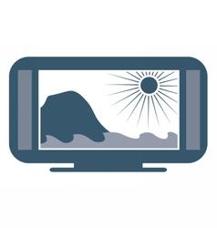 Wide screen TV vector image
