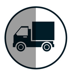 Delivery truck isolated icon vector