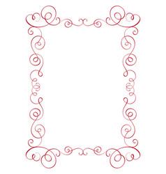 square flourish calligraphy vintage frame vector image