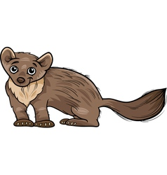 Marten animal cartoon vector