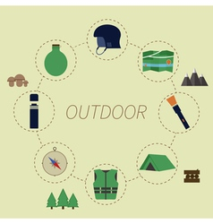 Outdoor infographics camping lifestyle unusual vector