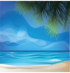 Tropic exotic island beach landscape vector
