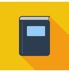 Book single flat icon vector