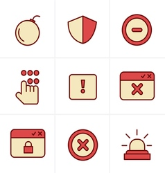 Icons style security icons vector