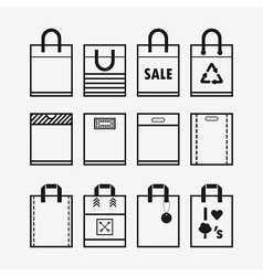 Shopping bag icon set vector