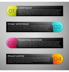 Modern infographic design template vector