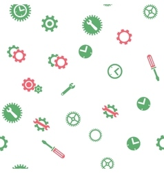 Time tools seamless flat pattern vector