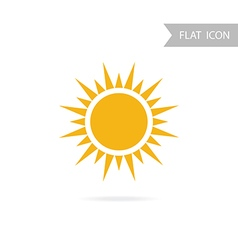 Sun Icon isolated on White Background vector image
