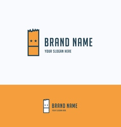 Face rectangle logo vector