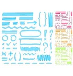 Hand drawing highlighter elements for select and vector