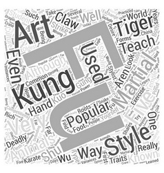 A look at kung fu word cloud concept vector