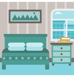 Background of bedroom vector image vector image