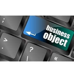 business object - social concepts on computer vector image