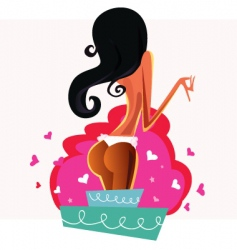 cake strip girl vector image