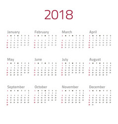 calendar-red-gray vector image