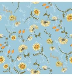 chrysanthemum blue vector image vector image