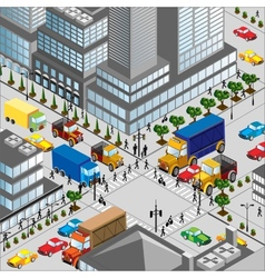 Crossing of city vector