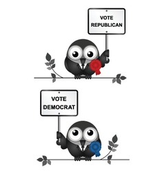 Democrat and republican politicians vector