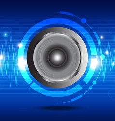 digital sound wave from speaker vector image vector image