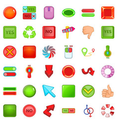 Download arrow icons set cartoon style vector