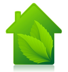 ecological house concept vector image