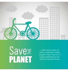 Ecology card save the planet vector
