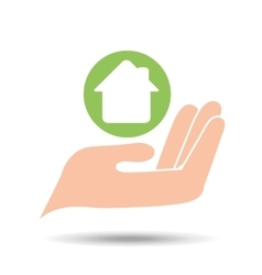 environment friendly concept house vector image