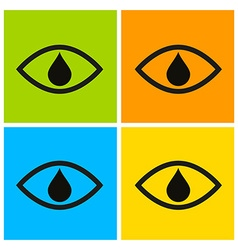 eyes set vector image vector image