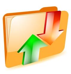 Folder exchange vector image