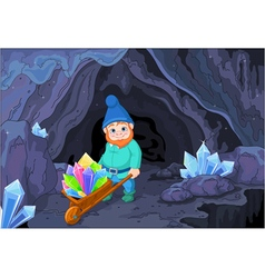 Gnome with Quartz Crystals vector image vector image