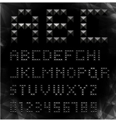 gold pixel font with stud vector image