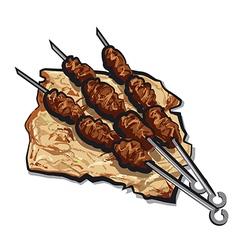 grilled kebab vector image vector image