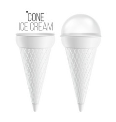ice cream cone for ice cream sour cream vector image vector image