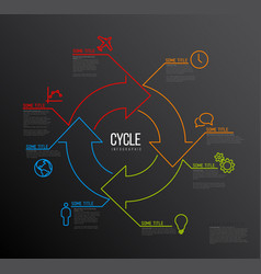 infographic cycle template made from lines and vector image vector image