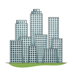 metropolisrealtor single icon in cartoon style vector image