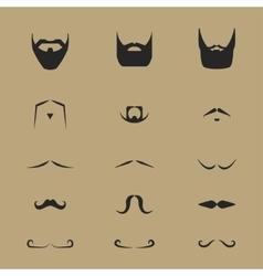 mustache vector image