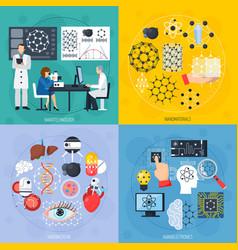 Nanotechnologies design concept vector