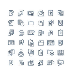 office documents icon set vector image