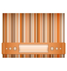 Orange and brown background vector image vector image
