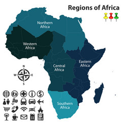 regions of africa vector image