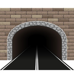 road tunnel 02 vector image