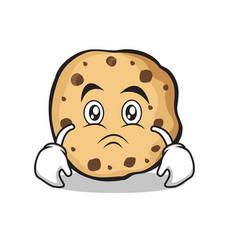 Sad sweet cookies character cartoon vector