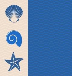 Sea icons vector image vector image