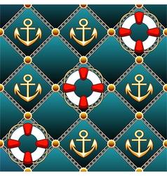 Seamless lifebuoy pattern vector image vector image